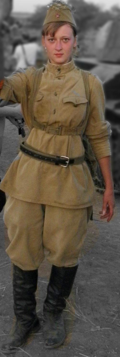 Russian girl uniform