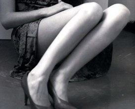 Russian woman photo of her legs