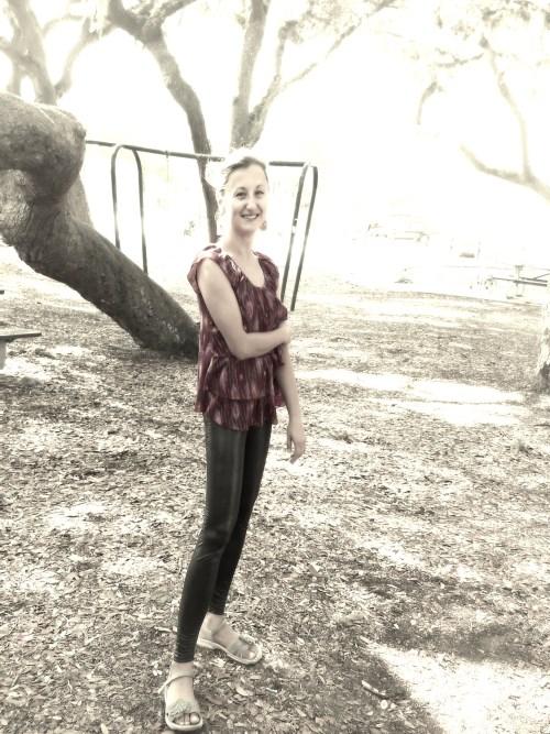 Ukrainian girl in park