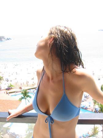 girl having fun on vacation
