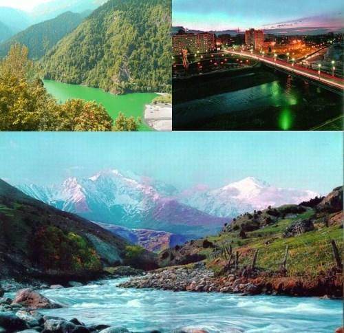 Ossetian girl mountains
