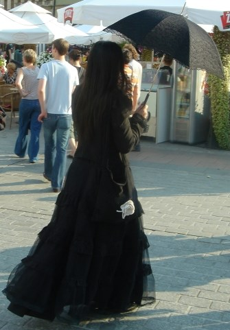 Photo of a Gothic girl