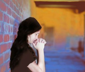 prayerful girl